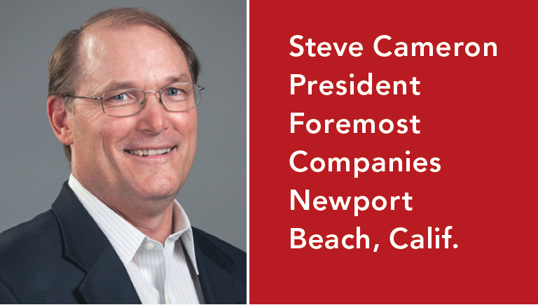 Headshot of Steve Cameron, president of Foremost Companies in Newport Beach, Calif.