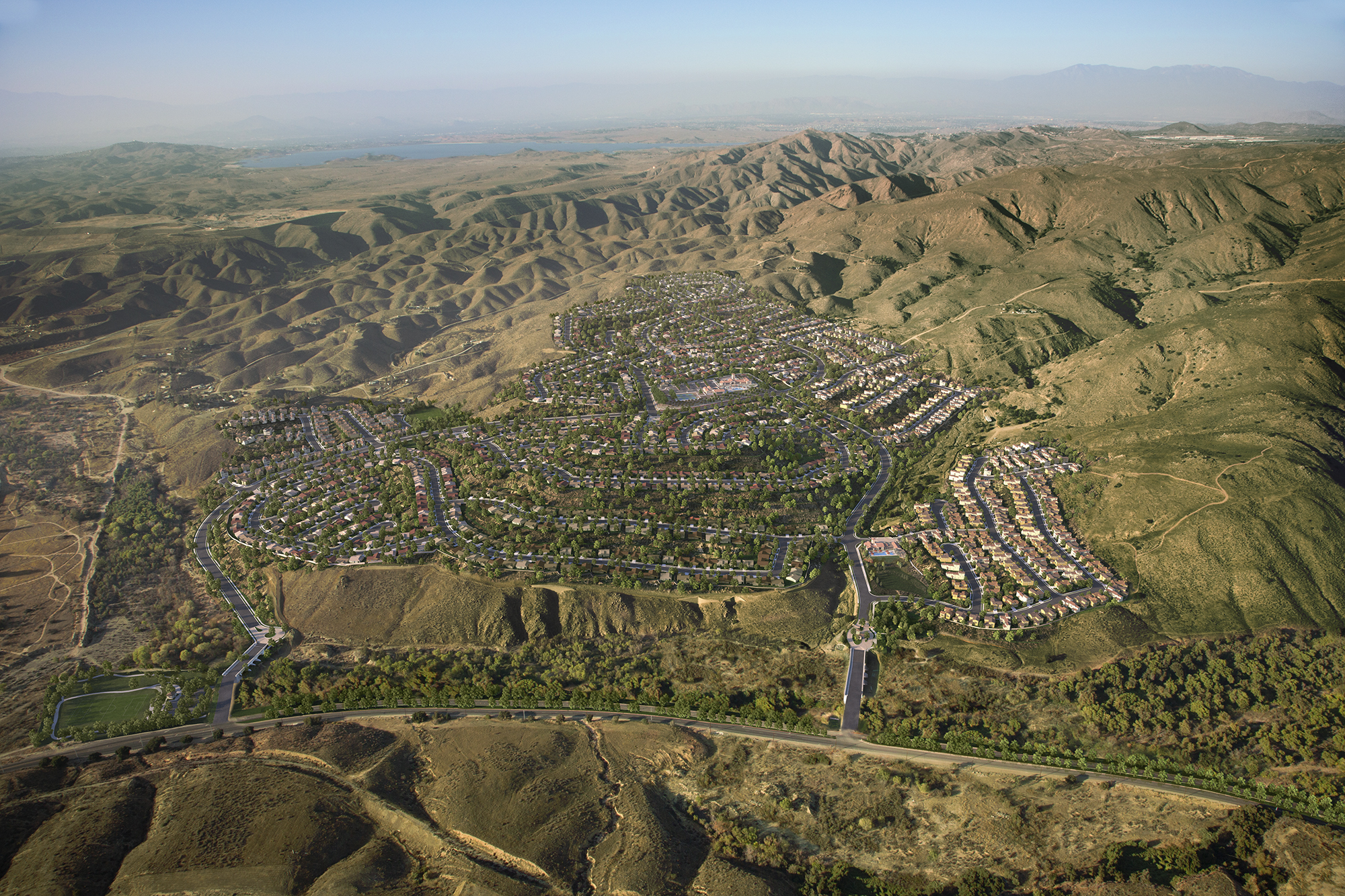 Aerial view of Terramor, a master planned community in Riverside County, Calif