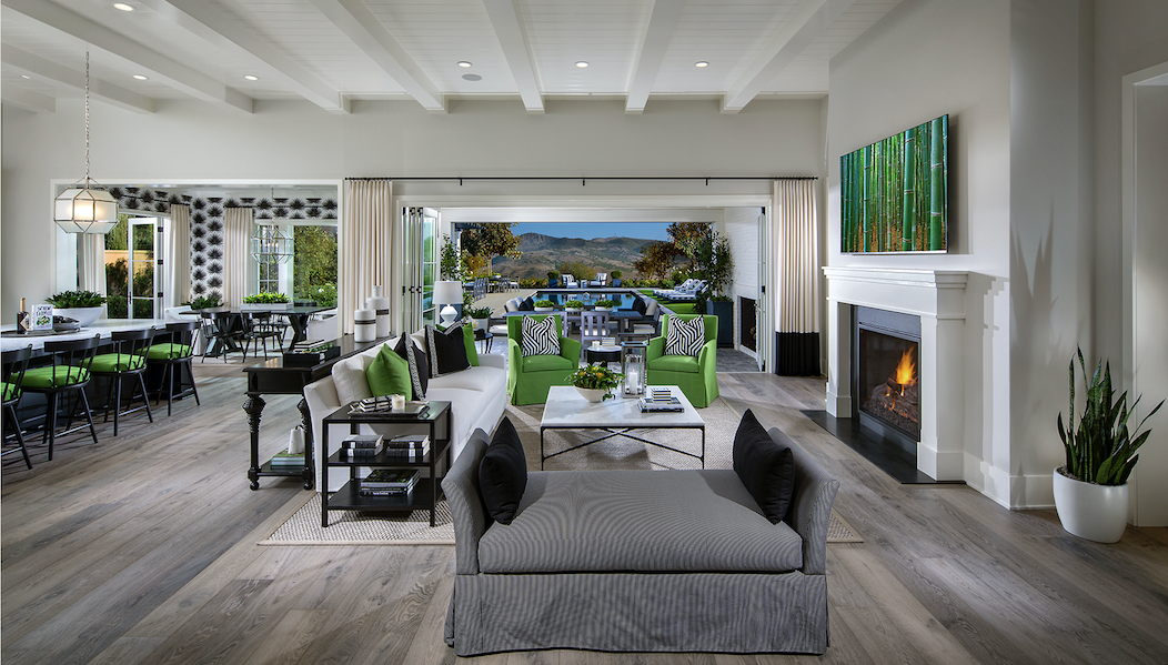 The New Home Company's Sky Ranch at Covenant Hills, in California, luxury home family room