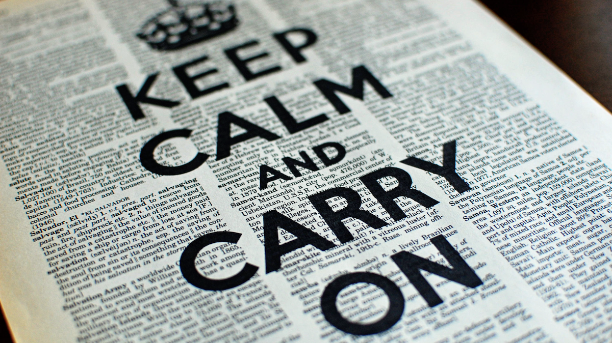 home builders should just keep calm and carry