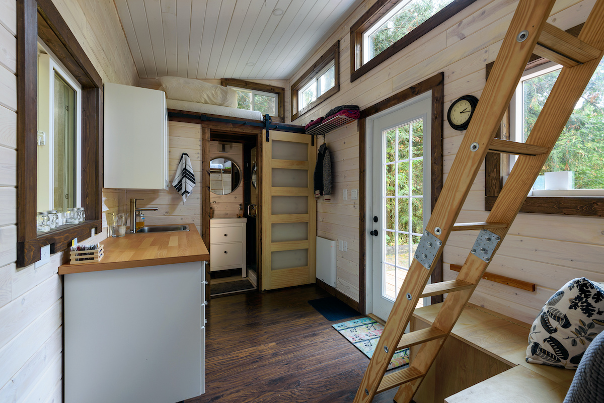 Interior of tiny home