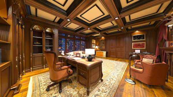 Mahogany home office