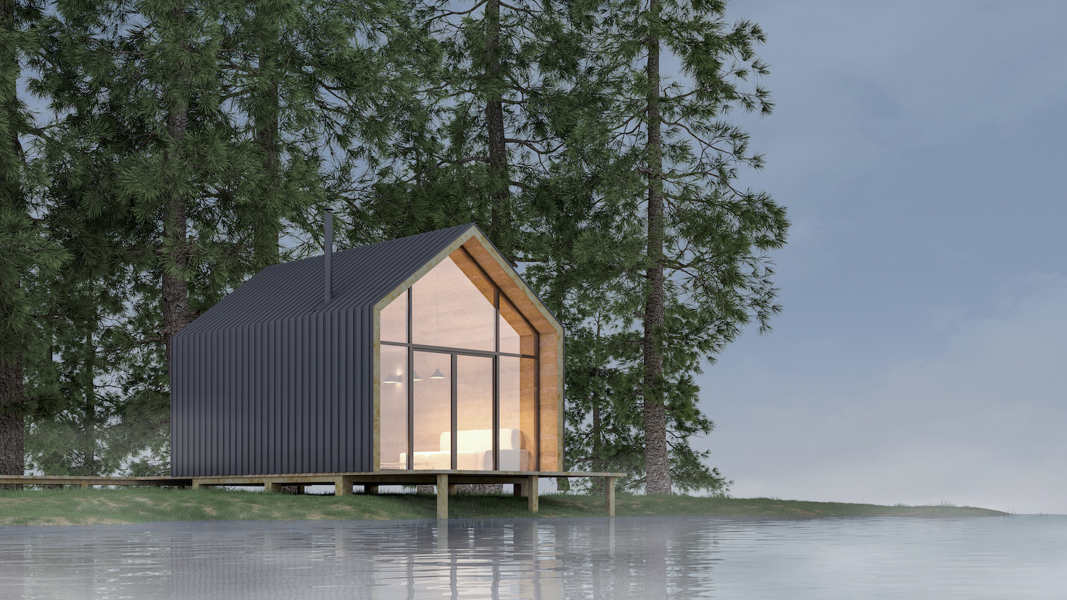 Rendering of tiny house