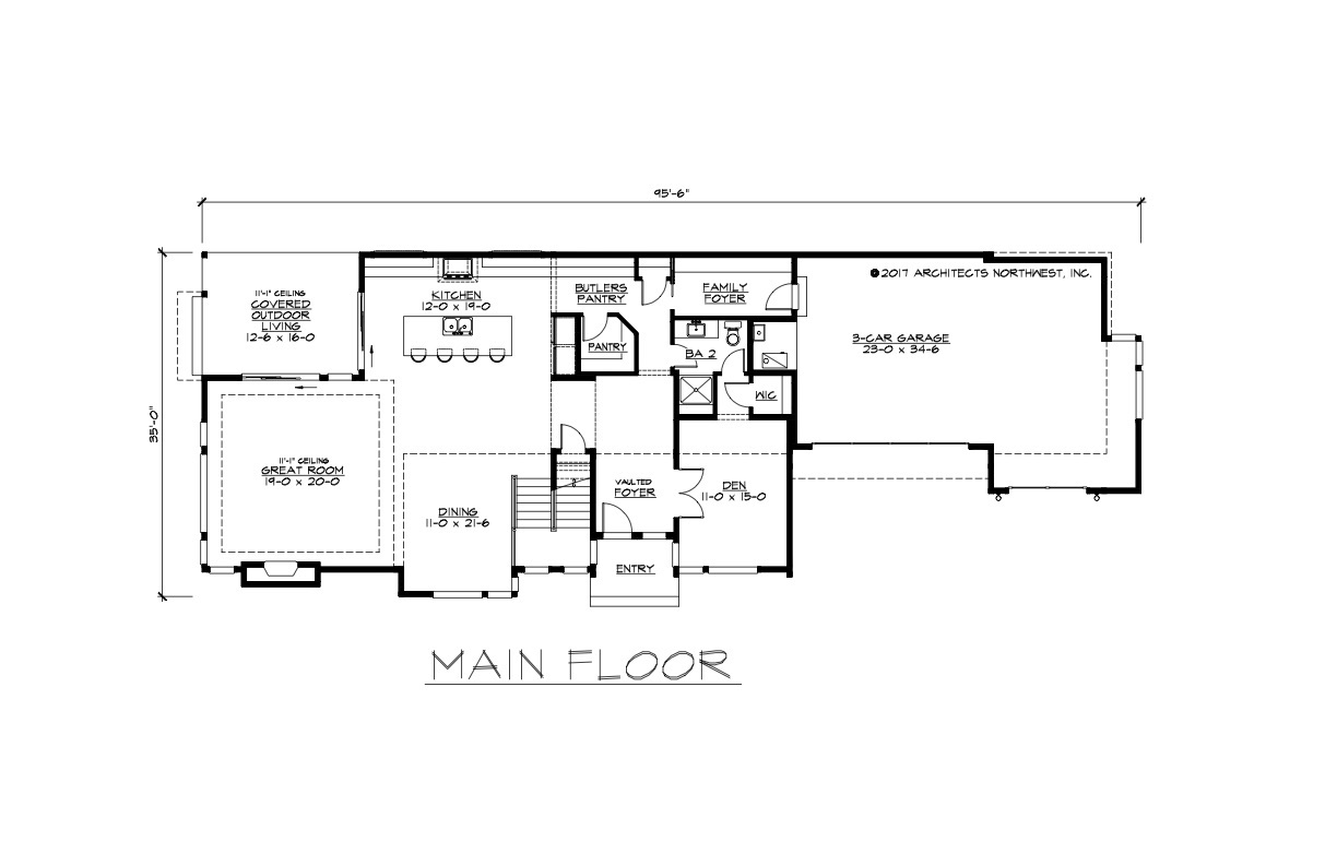 30 wide house plans for Wide house floor plans