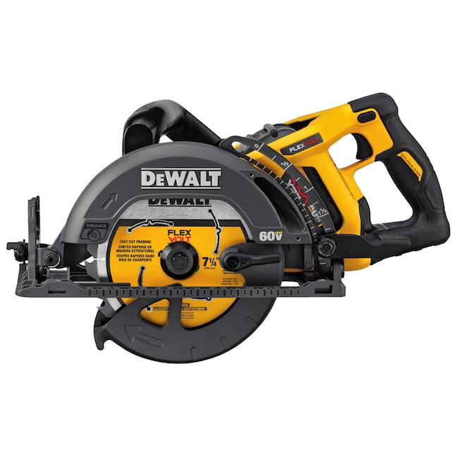 DeWalt FlexVolt 60v worm drive saw