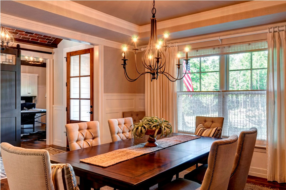 Show house shakes up central pennsylvania pro builder for Dining room in entryway
