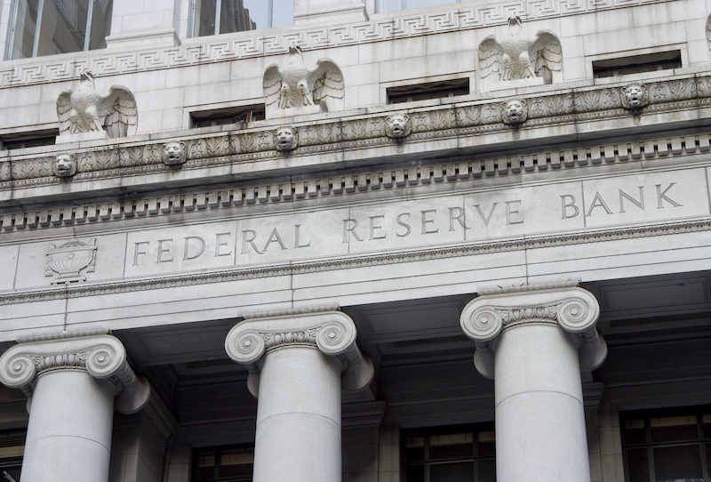 Facade of the Federal Reserve building