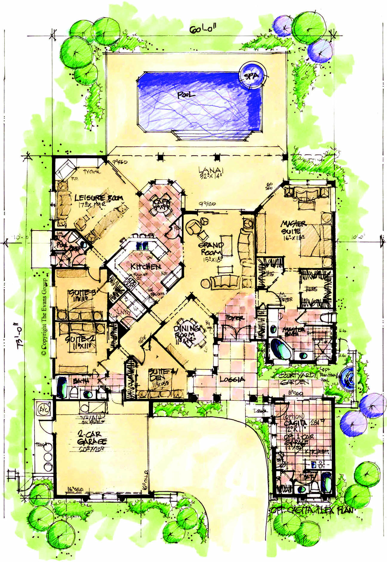 Southwest Casita House Plans House Plans