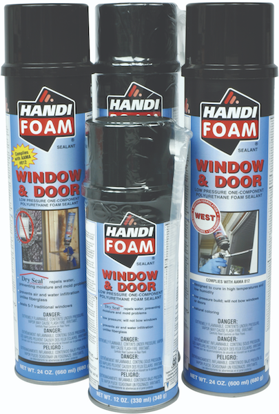 Fomo Products launched two new sealants: Handi-Foam Window & Door and Handi-Foam Window & Door West