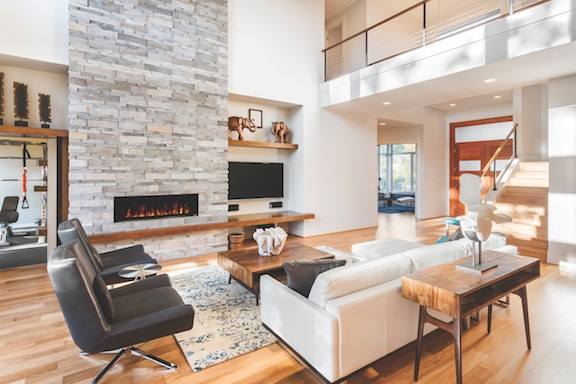 FusionFire steam fireplace from Modern Flames