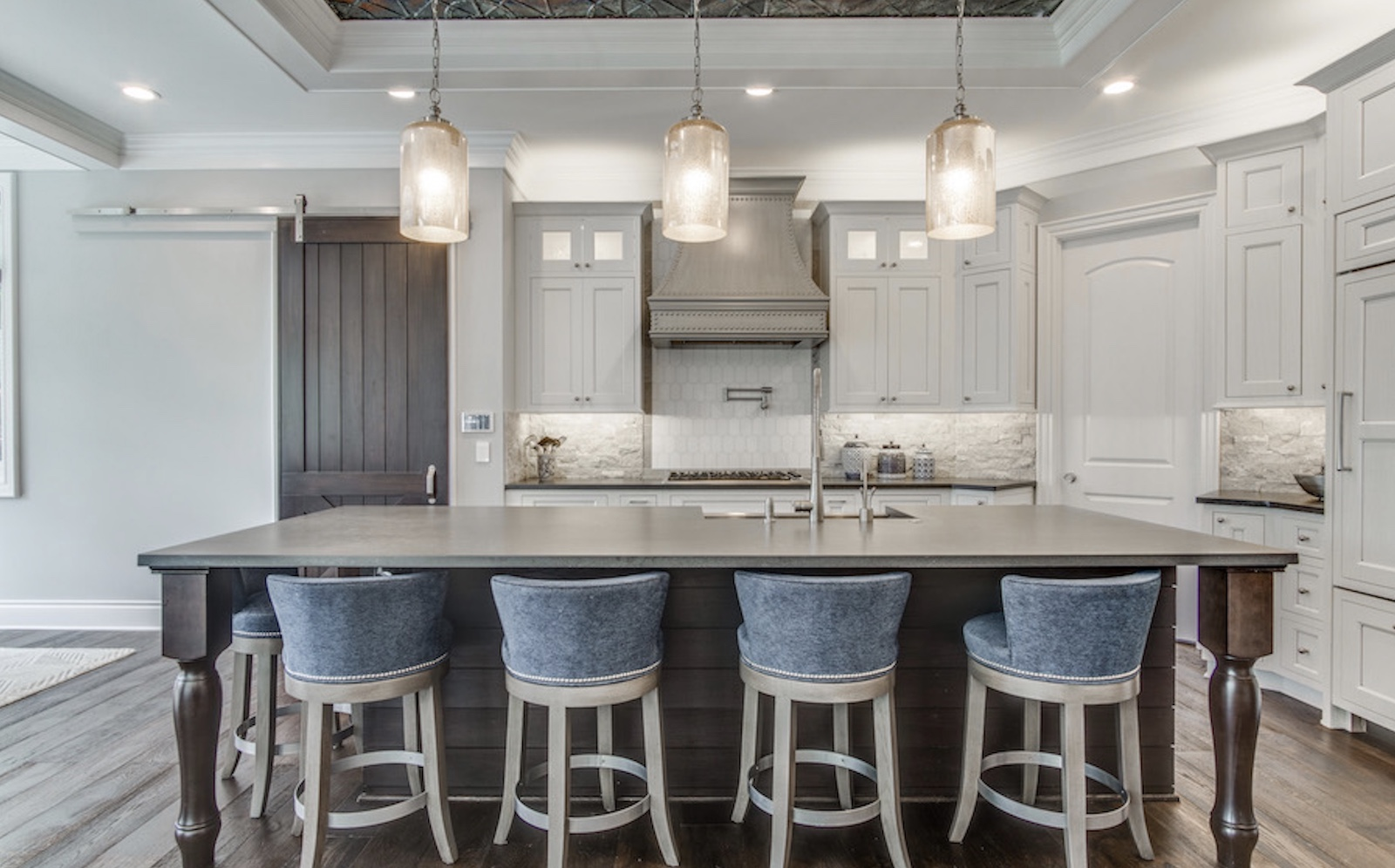 The kitchen island in Jaime, designed by TK Design & Associates
