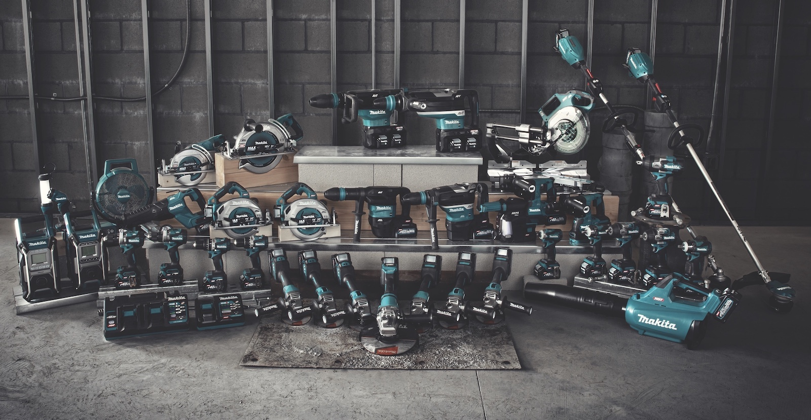 Makita XGT family of battery-powered tools