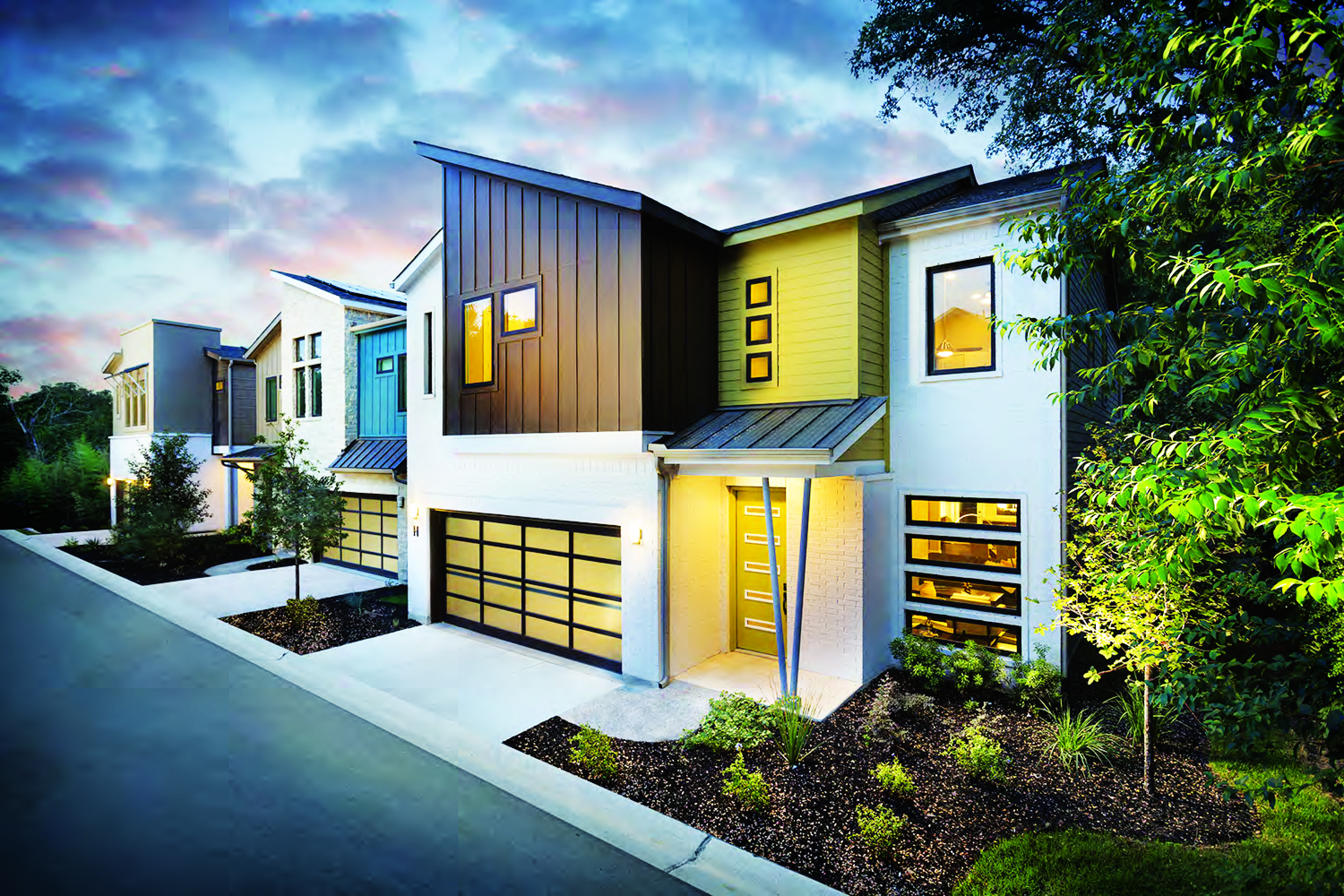 Captivating Home Buyers In Austin, Texas, Find Solaverau0027s Contemporary Designs  Refreshing. BSB Design Utilized A Variety Of Rooflines; Window Shapes And  Sizes; ...