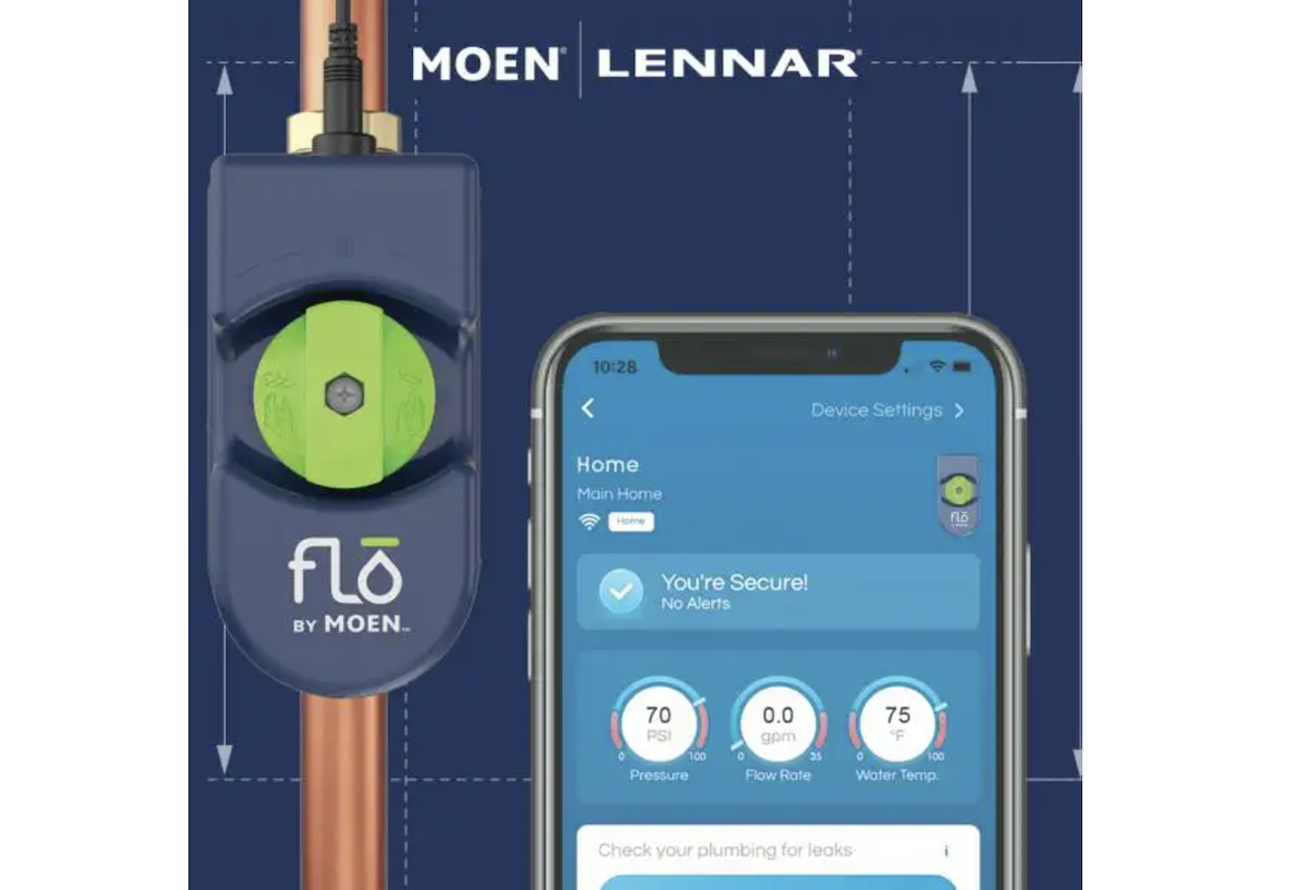 Moen's tools for smart water monitoring in Lennar homes
