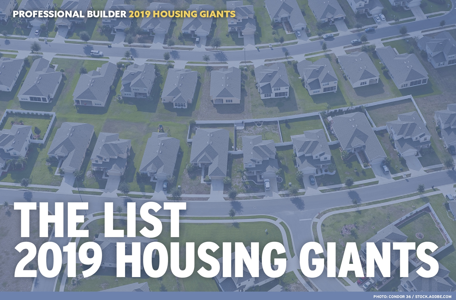 2019 Professional Builder Housing Giants list