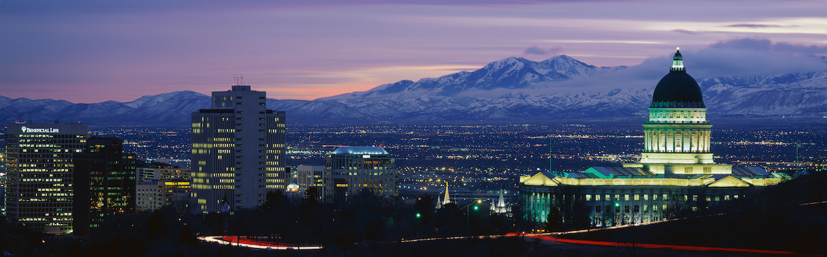 View of Salt Lake City and the Rocky Mountains