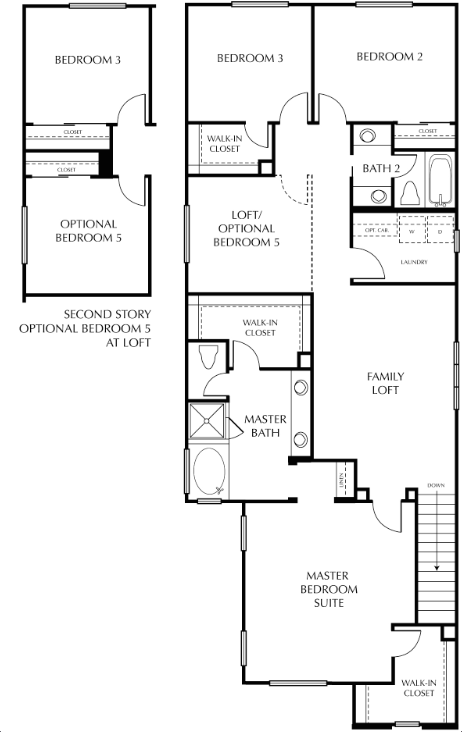 this scheme offers large storage space even walk in closets for some secondary bedrooms the idea was to get the living space to orient directly out to - Brookfield Homes Floor Plans