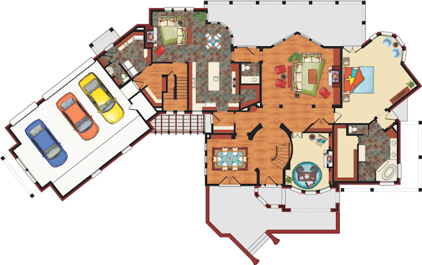This Plan Has A Warming Roomsometimes Called Hearth Roomadjacent To The Breakfast Nook Half Walls Define Dining Room Without Completely Separating
