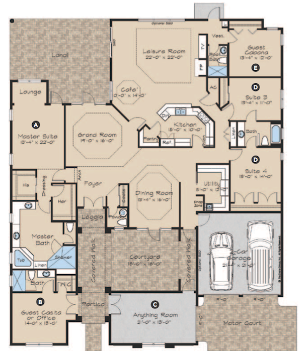 Multi generational home floor plans thefloors co for Home plans com