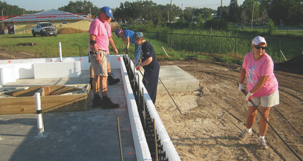 High-R wall being installed on the jobsite