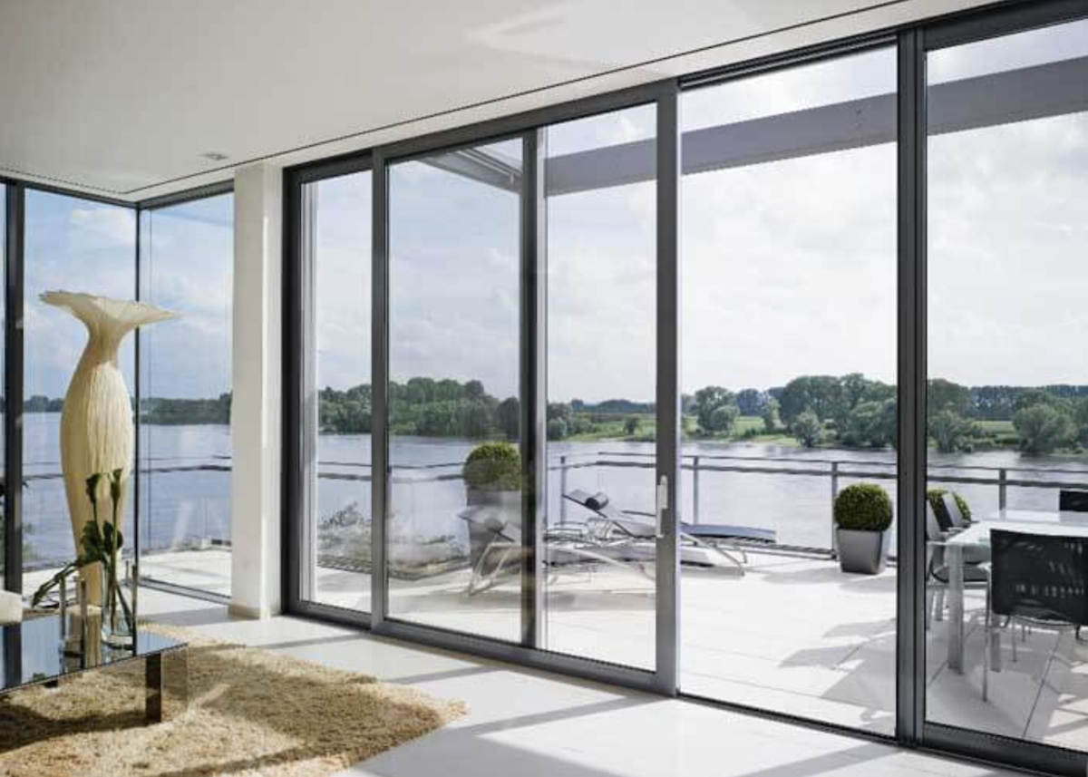 Aluminum multi-slide glass doors open up interiors to new opportunities for outdoor living