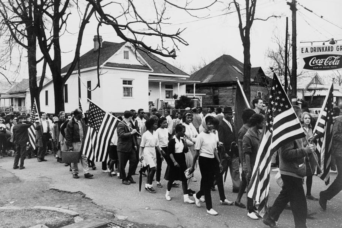 Civil rights march from Selma to Montgomery in 1965