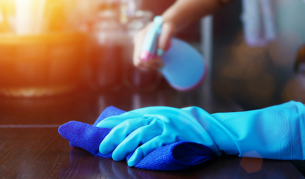 Cleaning surfaces and disinfecting