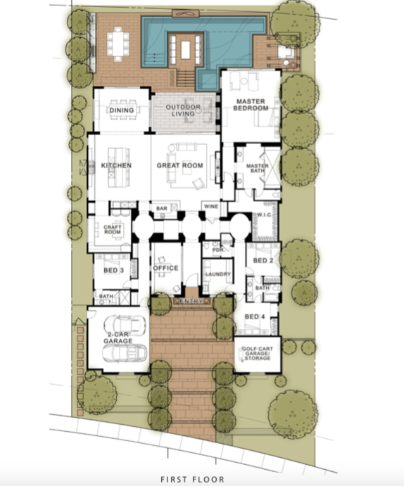 2019 Professional Builder Design Awards Gold Single family over 3100sf floor plan