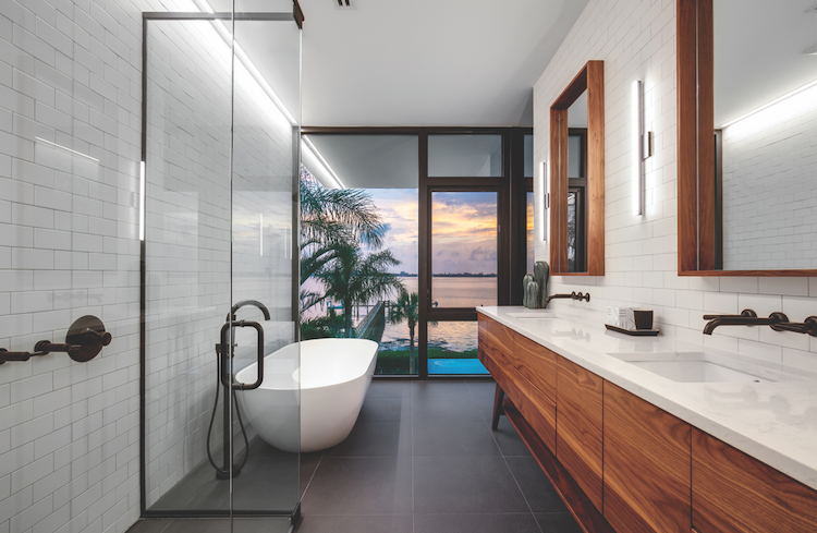 2019 Professional Design Awards Project of the Year Gold bathroom