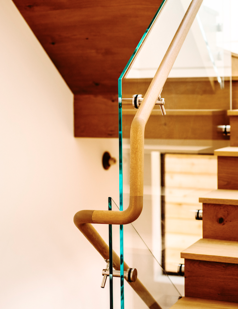 2019 Professional Builder Design Awards Gold Infill stair handrail detail wood
