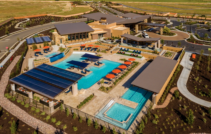 2019 Professional Builder Design Awards Gold New Community aerial view