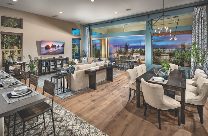 2019 Professional Builder Design Awards Gold New Community home interior with outdoor living