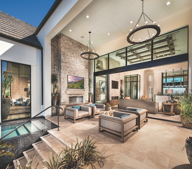 2019 Professional Builder Design Awards Gold SIngle-Family Production outdoor living
