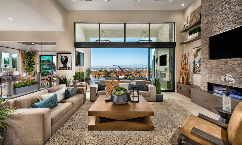 2019 Professional Builder Design Awards Gold Single-Family Production living room