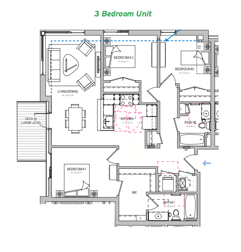 2019 Professional Builder Design Awards Gold Attainability floor plan 3 bedroom