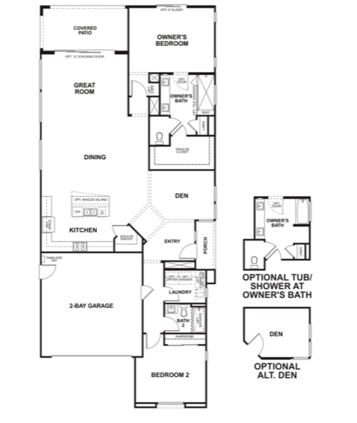 2019 Professional Builder Design Awards Gold New Community Altis model floor plans