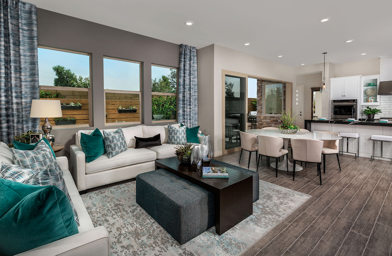 2019 Professional Builder Design Awards honorable mention multifamily living space and kitchen