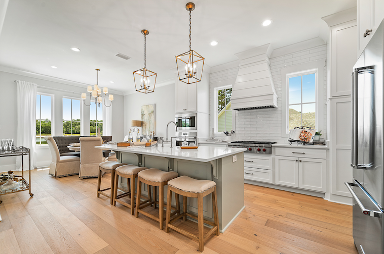 2019 Professional Builder Design Awards Silver Single Family 2001 to 3100 sf kitchen and living