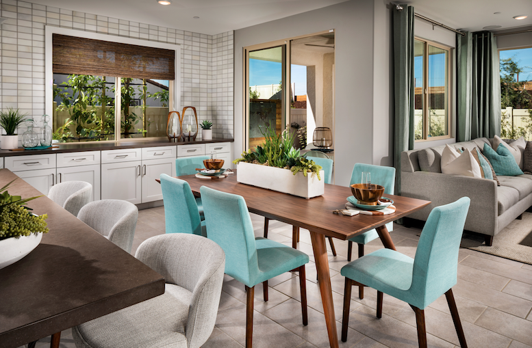2019 Professional Builder Design Awards Silver Single Family home under 2000sf dining and kitchen