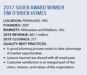 2017 NHQ Silver_Tim O'Brien Homes_company details