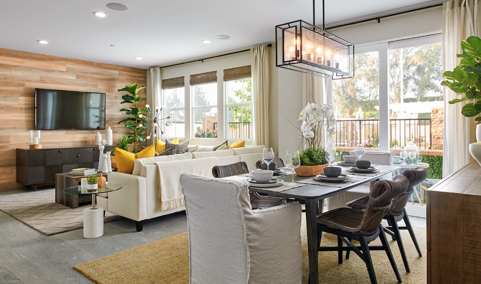 Trumark Homes' Centerhouse interior-living and dining area