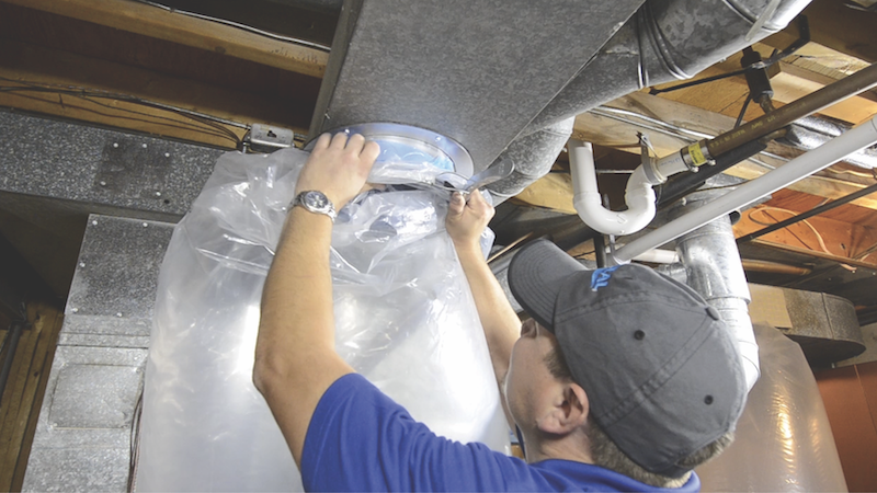 preventing duct leaks in HVAC systems