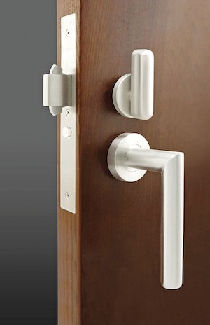 Unison Hardware's Inox PD96 self-latching mortise lock for sliding doors