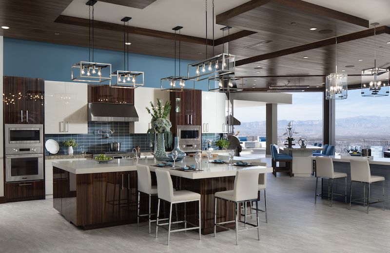 The New American Home kitchen with view