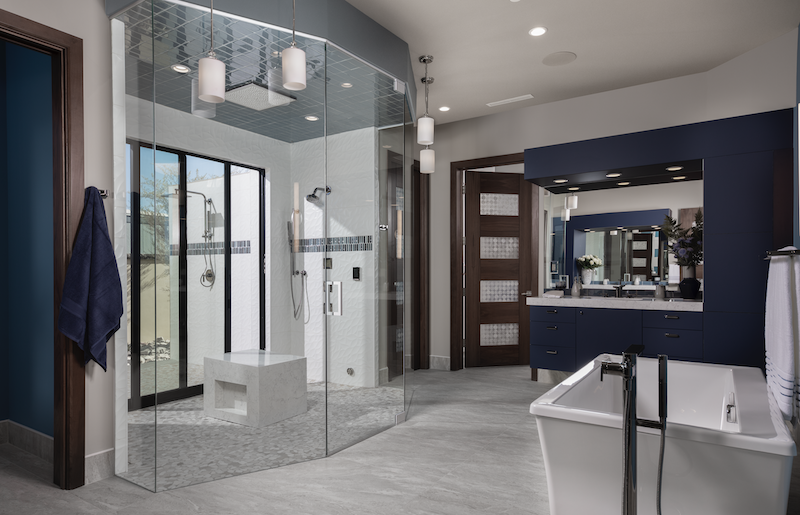 The New American Home 2020 master bathroom