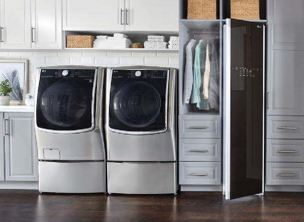 The New American Home 2020 products LG Appliances laundry