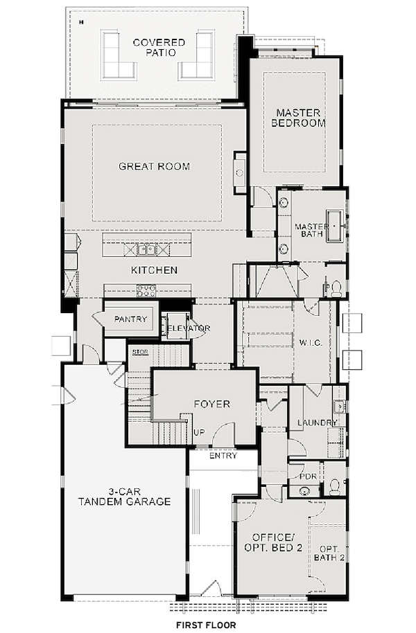 The Villas at Seven Desert Mountain, first floor plan