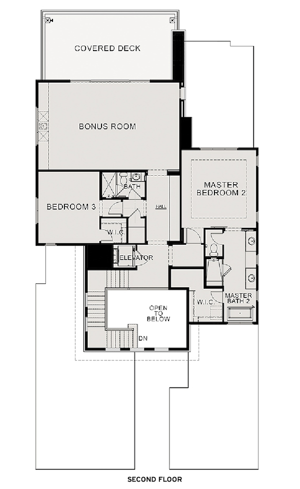 The Villas at Seven Desert Mountain, second floor plan