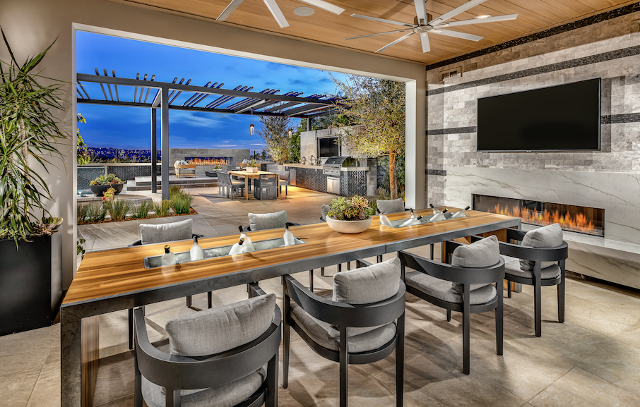 Toll Brothers luxury design Olimpico model outdoor room