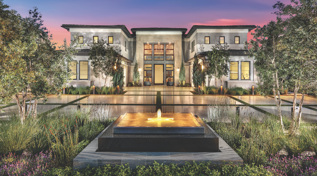 Toll Brothers Olimpico luxury home exterior